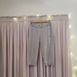 Puma grey cropped sweats